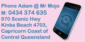 Contact Adam Cox at Mr Mojo Ice Cream Vendor